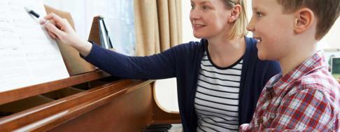 Musikunterricht zu Hause geben Keyvisual