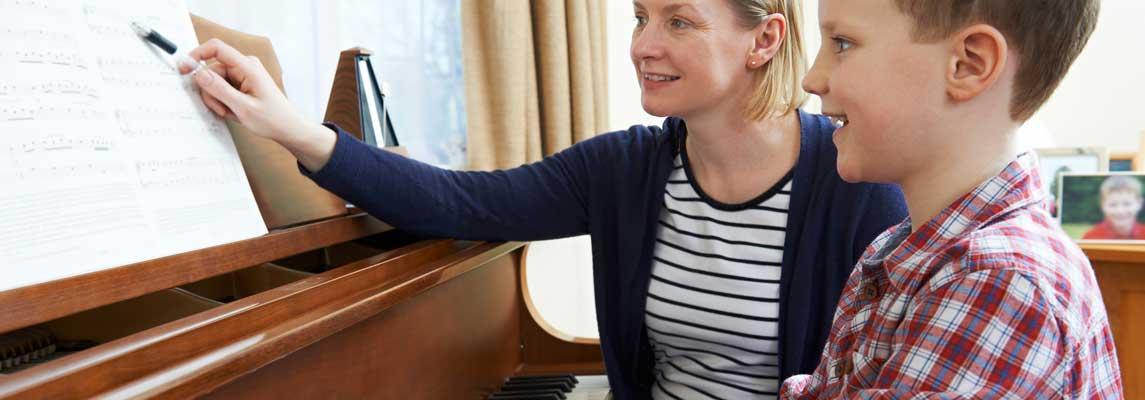 Musikunterricht zu Hause Keyvisual